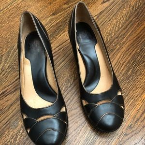 Soft heels size 8.5 black with gold